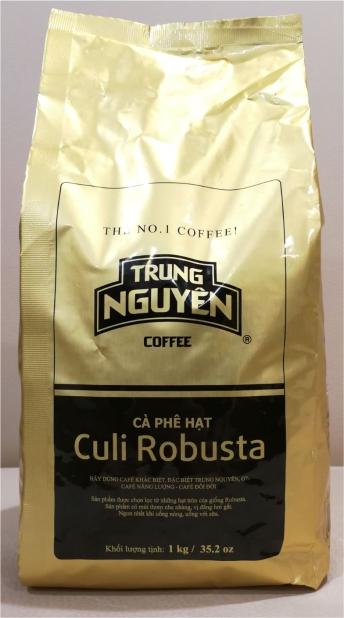 Cafe hạt Culi Robusta Trung Nguyên